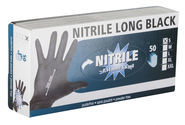 Disposable Gloves Nitrile Long Black