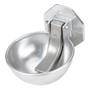 Aluminium drinking bowl for pasture barrel attachment
