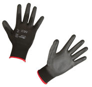 Fine-knit Glove Gnitter Black