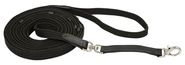Lunge leash with leather stops