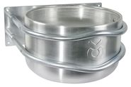 Aluminium Feed Trough, round