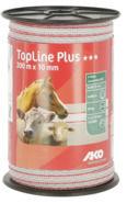 TopLine Plus Weidezaunband weiß/rot