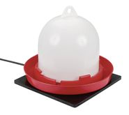 Rubber heating plate for small animals and poultry troughs