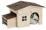 Nature Rodent House with Integrated Hay Rack