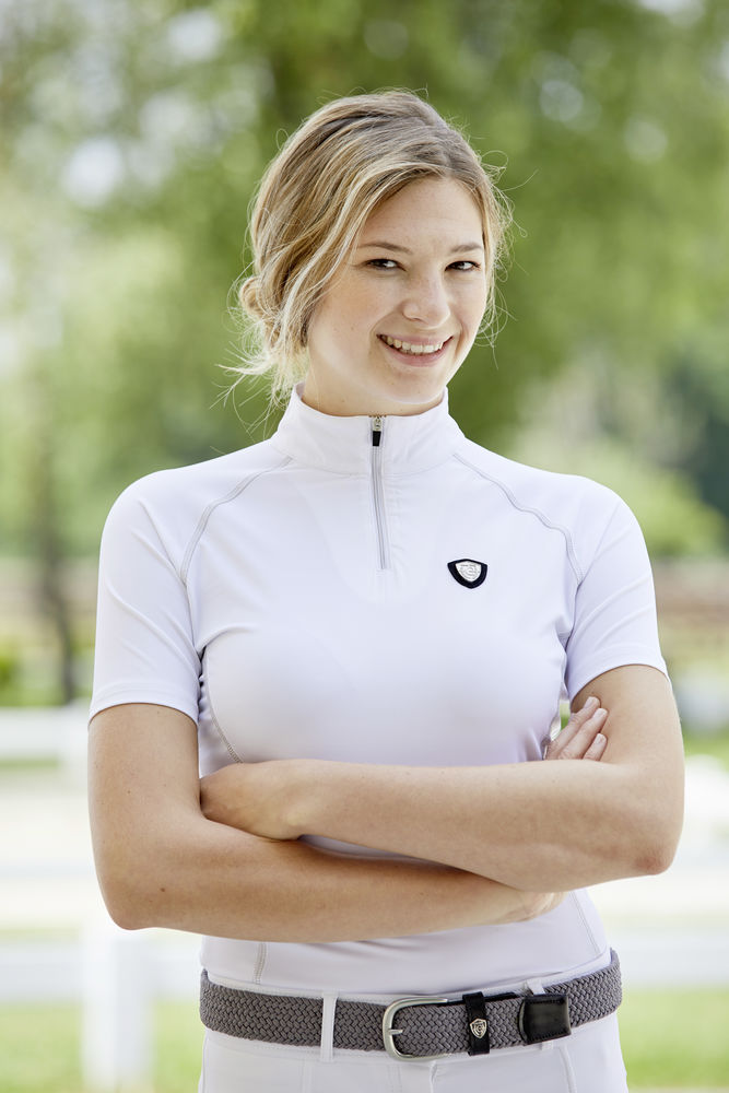 White Kerbl Competition Shirt Valentina Kinder 152//158