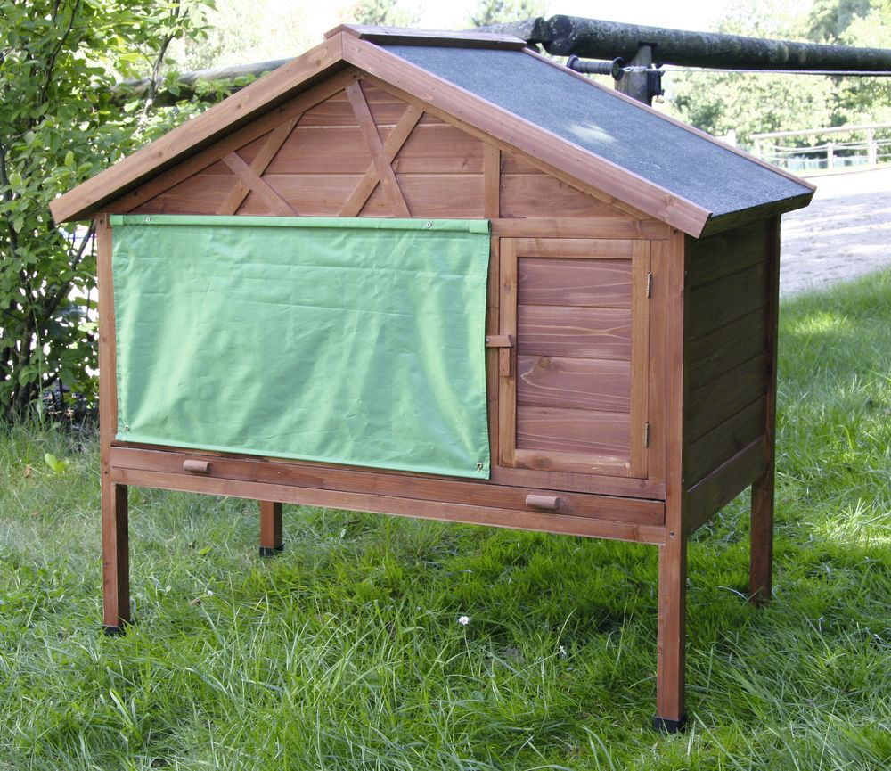 winter kaninchenstall 127x66x110 cm hasenstall isoliert ebay. Black Bedroom Furniture Sets. Home Design Ideas